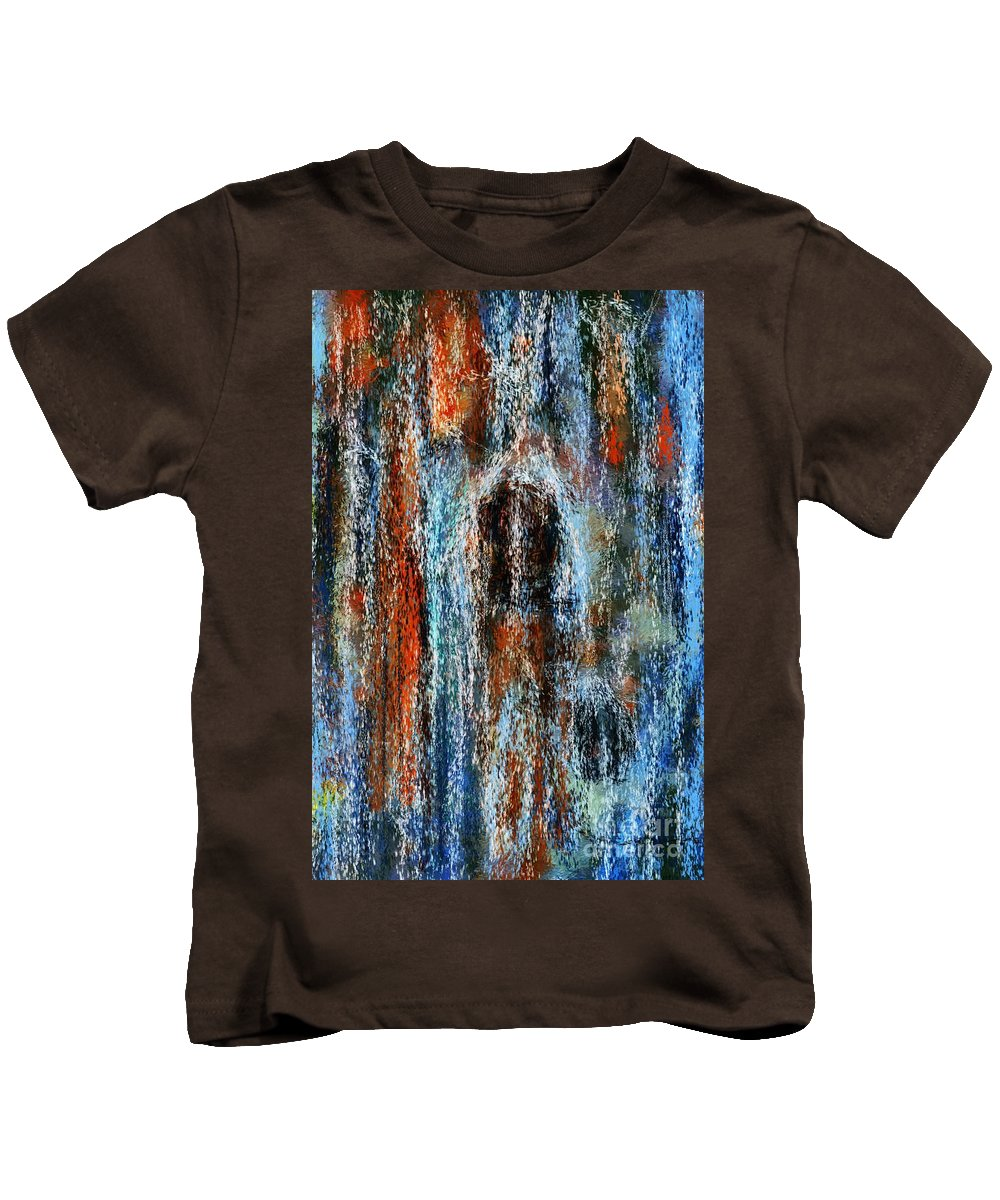 Kids T-Shirt featuring the digital art Stump Revealed by David Lane