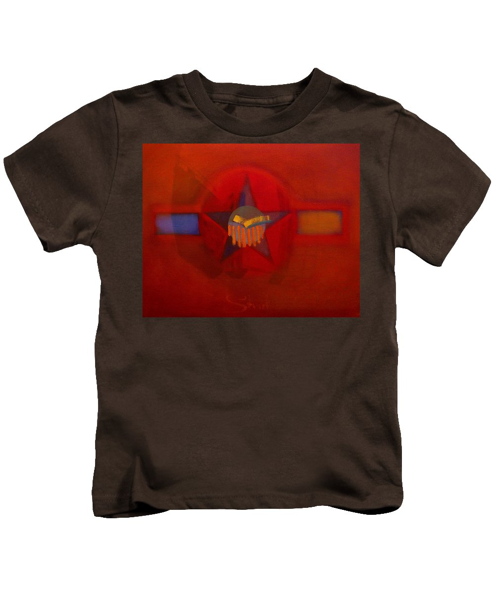 Warm Kids T-Shirt featuring the painting Sub Decal by Charles Stuart