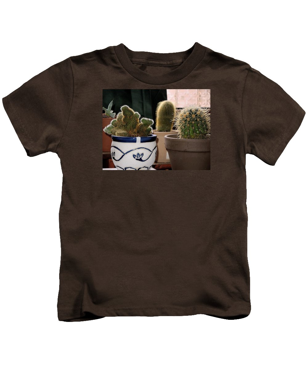 Succulent Kids T-Shirt featuring the photograph Succulent Backlight by Guido Strambio