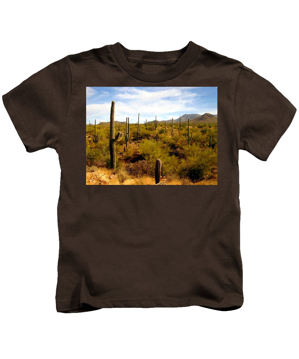 Suguaro Cactus Kids T-Shirt featuring the photograph Suguro National Park by Kurt Van Wagner