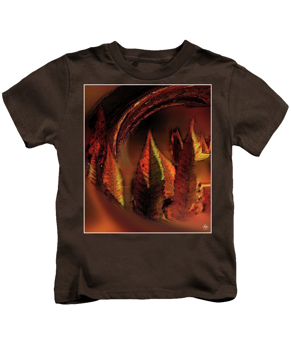 Sumac Kids T-Shirt featuring the photograph The Sumac Forest by Wayne King