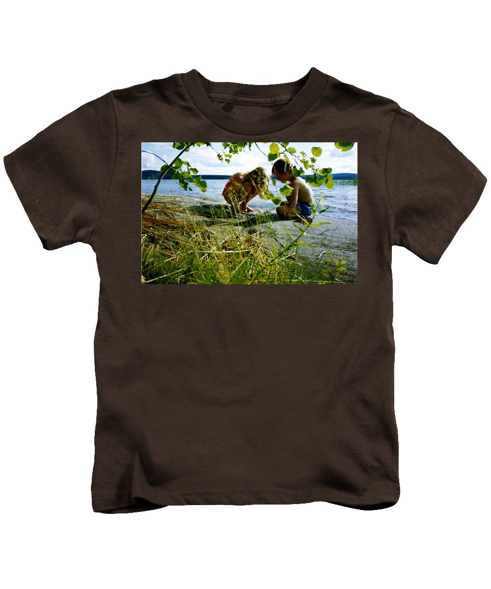 Kids Kids T-Shirt featuring the photograph Summer Fun In Finland by Merja Waters