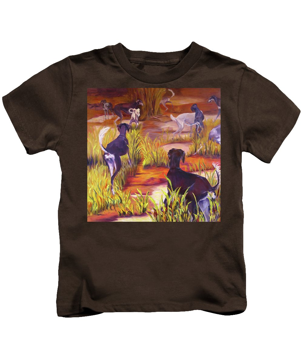 Art Kids T-Shirt featuring the painting Summer Fun by Terry Chacon