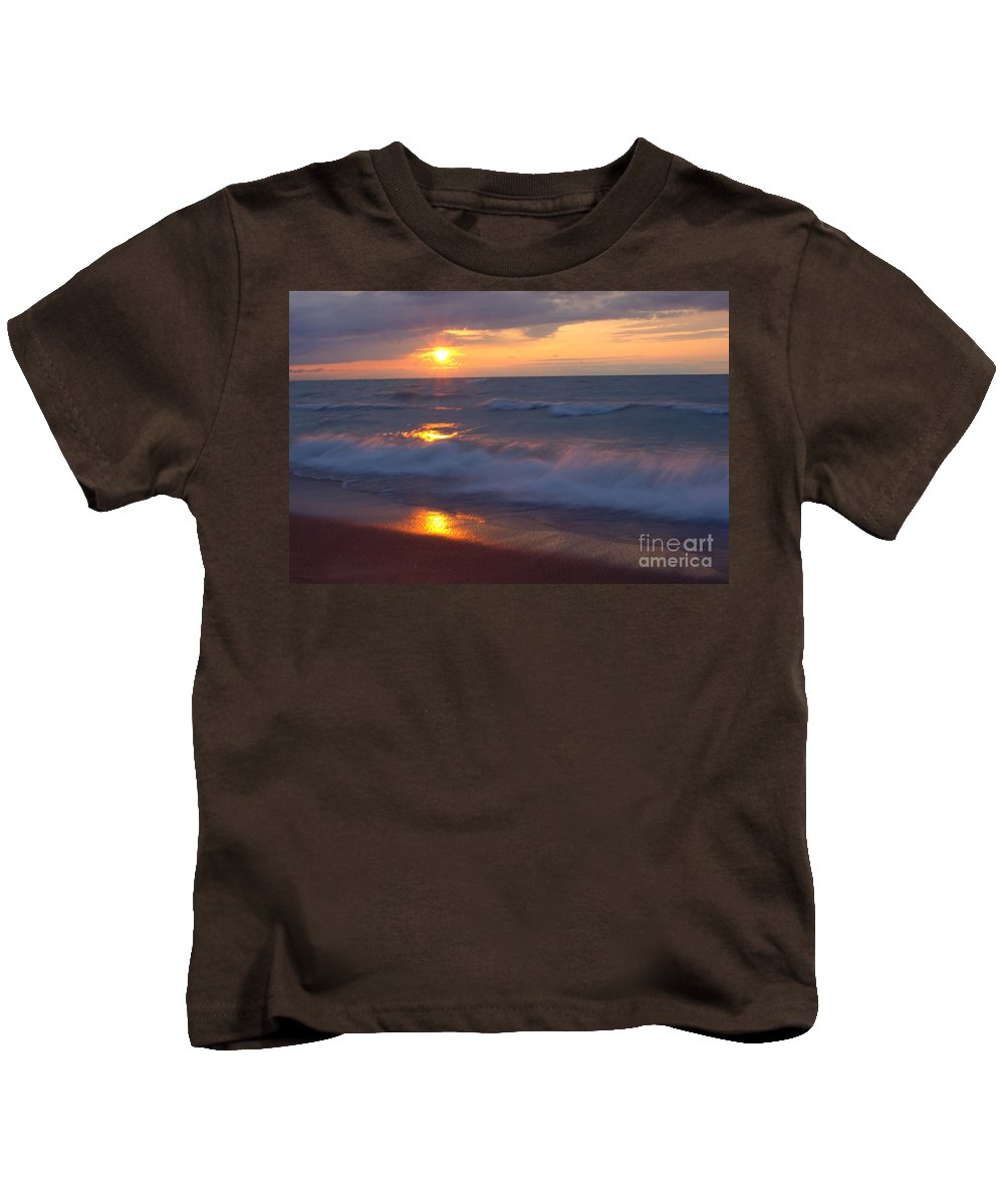 Grand Bend Kids T-Shirt featuring the photograph Summers Breath 4 by John Scatcherd