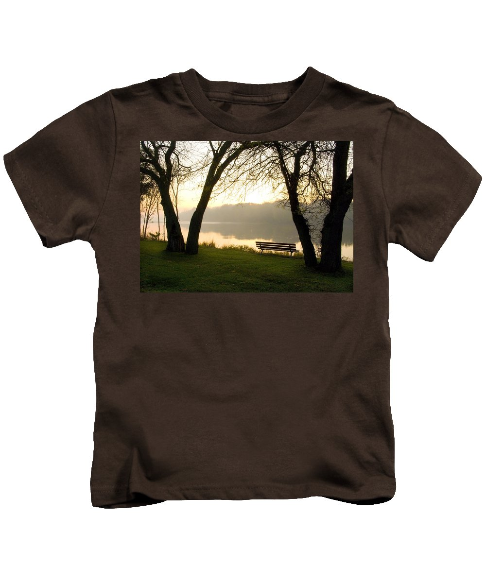 Sunrise Kids T-Shirt featuring the photograph Sunrise Over The Maumee by Jeffery Ball