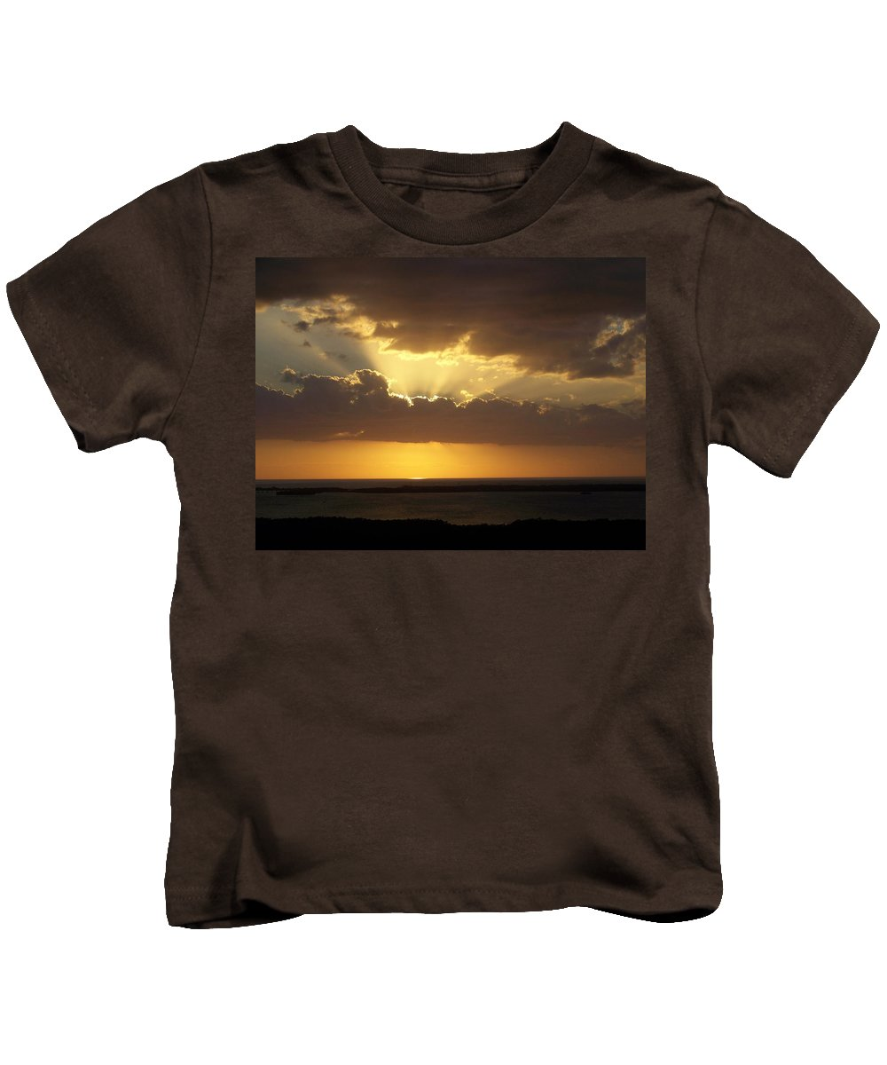 Sunset Kids T-Shirt featuring the photograph Sunset 0024 by Laurie Paci