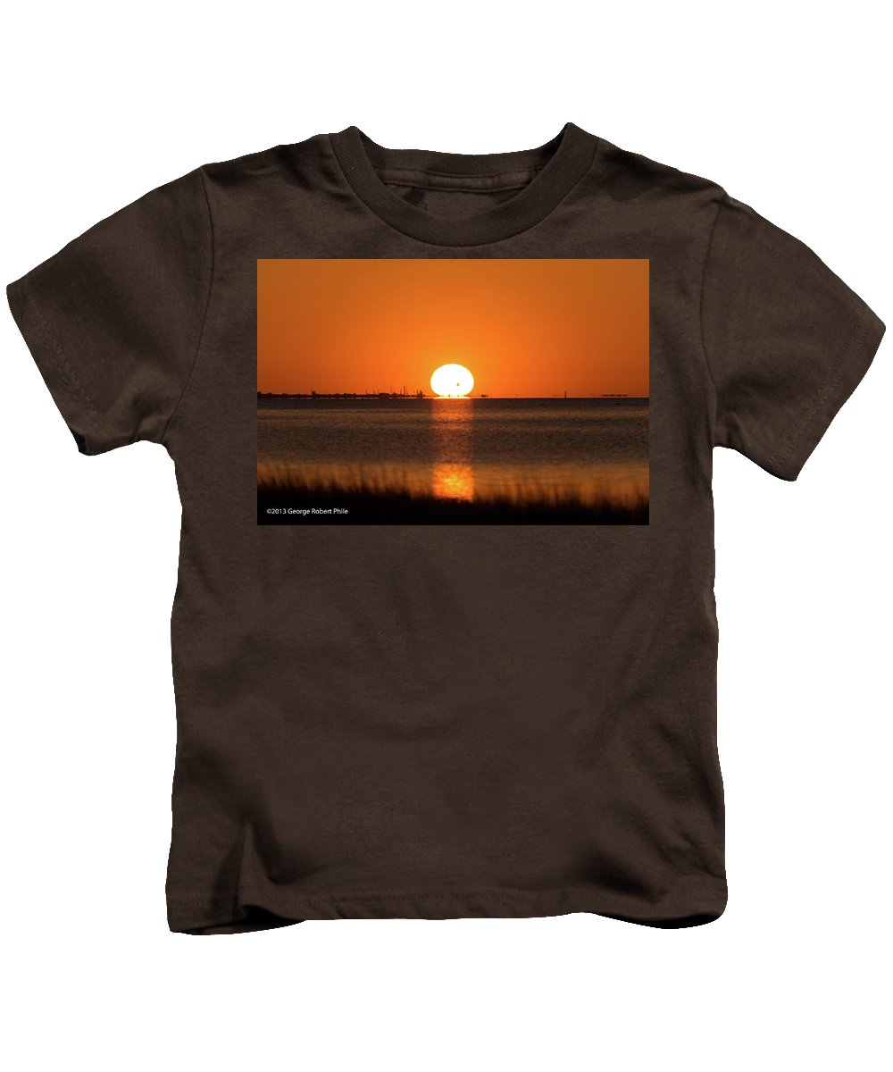 Sunset Kids T-Shirt featuring the photograph Sunset - 43 by George Phile