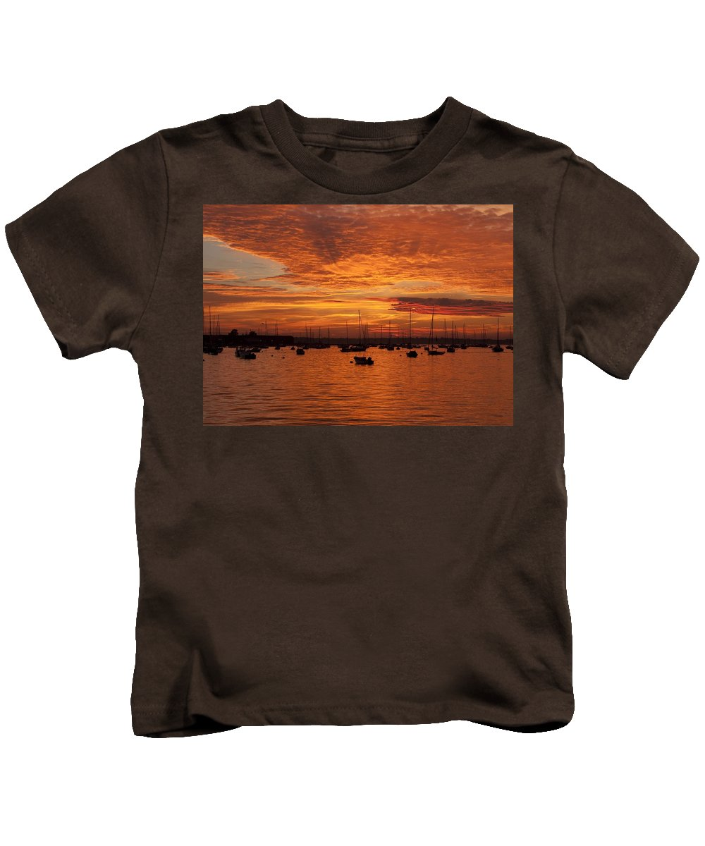 Sunset Kids T-Shirt featuring the photograph Sunset 4th Of July by Steven Natanson