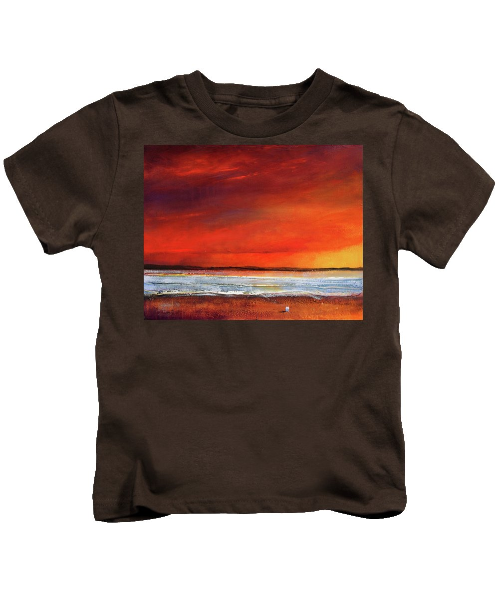Sunrise Kids T-Shirt featuring the painting Sunset Dreamin by Toni Grote