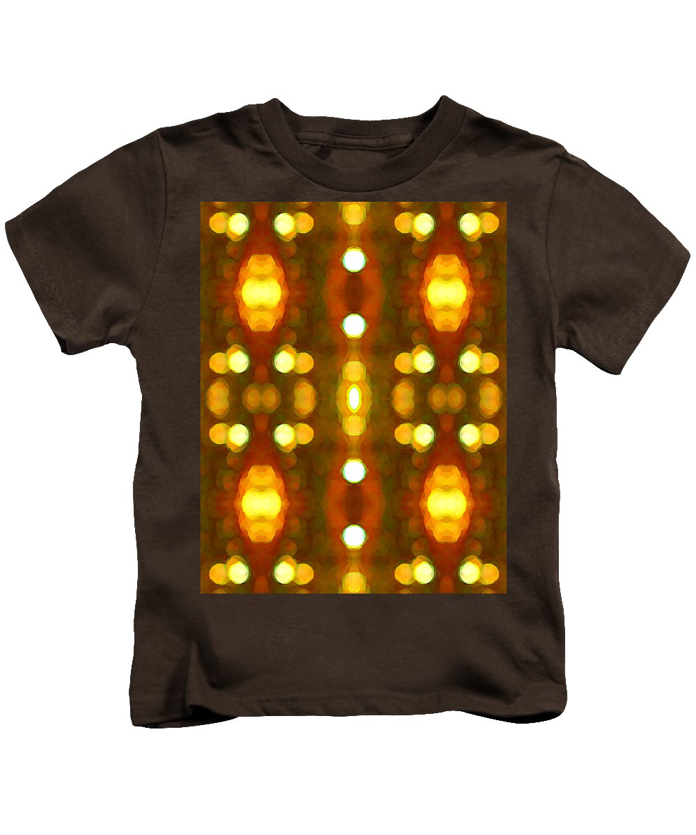 Abstract Kids T-Shirt featuring the painting Sunset Glow 2 by Amy Vangsgard