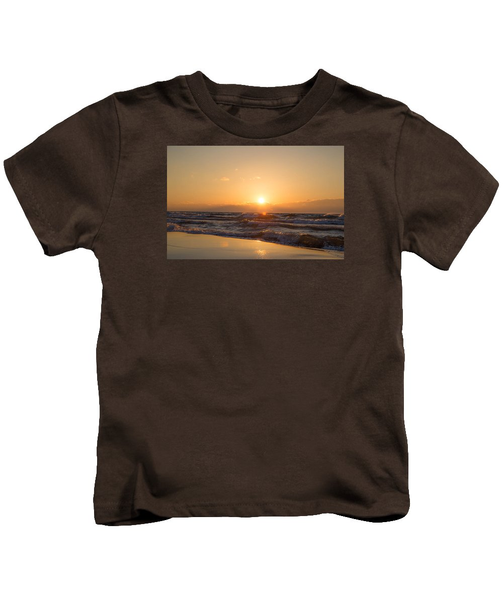 Sunset Kids T-Shirt featuring the photograph Sunset Over by Lee Richardson