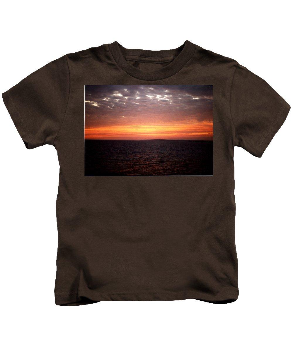 Sunset Sky Kids T-Shirt featuring the photograph Sunset Sky by Catt Kyriacou