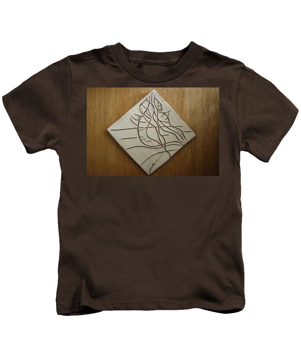 Jesus Kids T-Shirt featuring the ceramic art Sympathy - Tile by Gloria Ssali