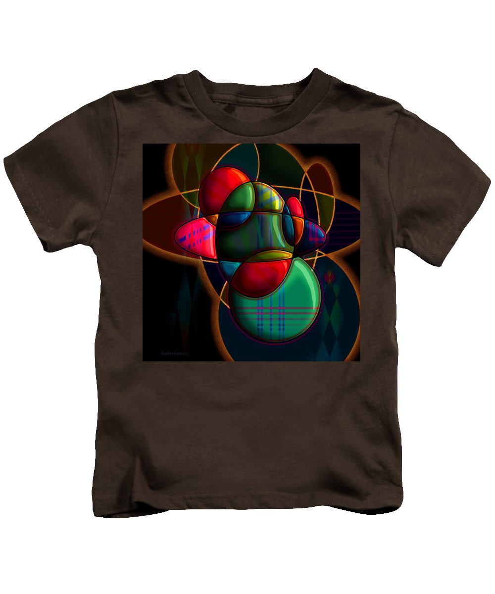 Modern Kids T-Shirt featuring the digital art Tactile Space I by Stephen Lucas