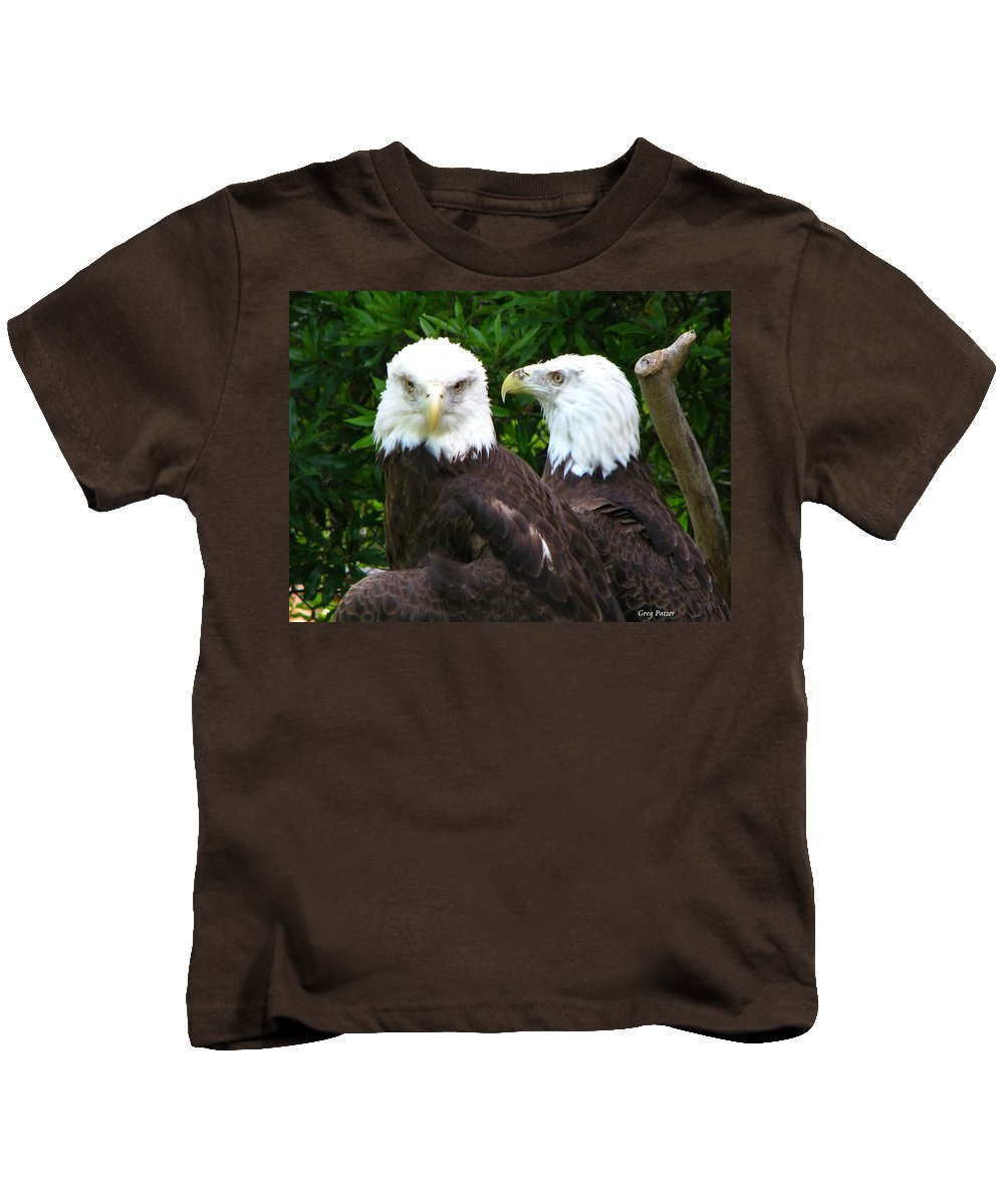 Kids T-Shirt featuring the photograph Talking To Me by Greg Patzer