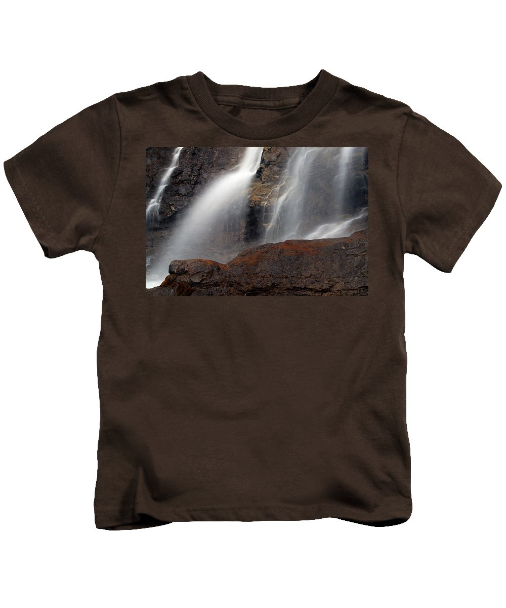 Tangle Falls Kids T-Shirt featuring the photograph Tangle Falls Closeup 9 by Larry Ricker