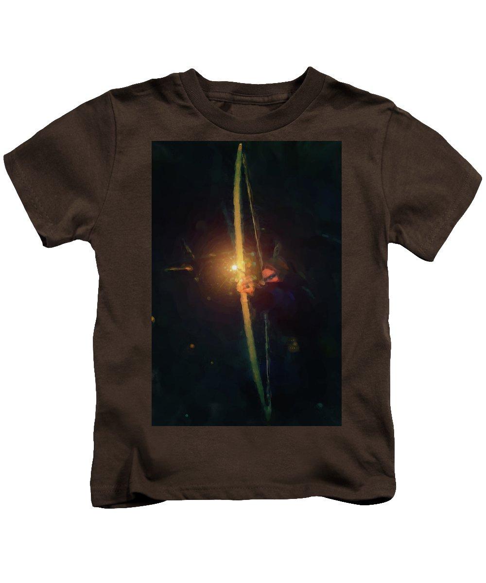 Thief Kids T-Shirt featuring the digital art Tara Nighthunter by Lucas Rayel