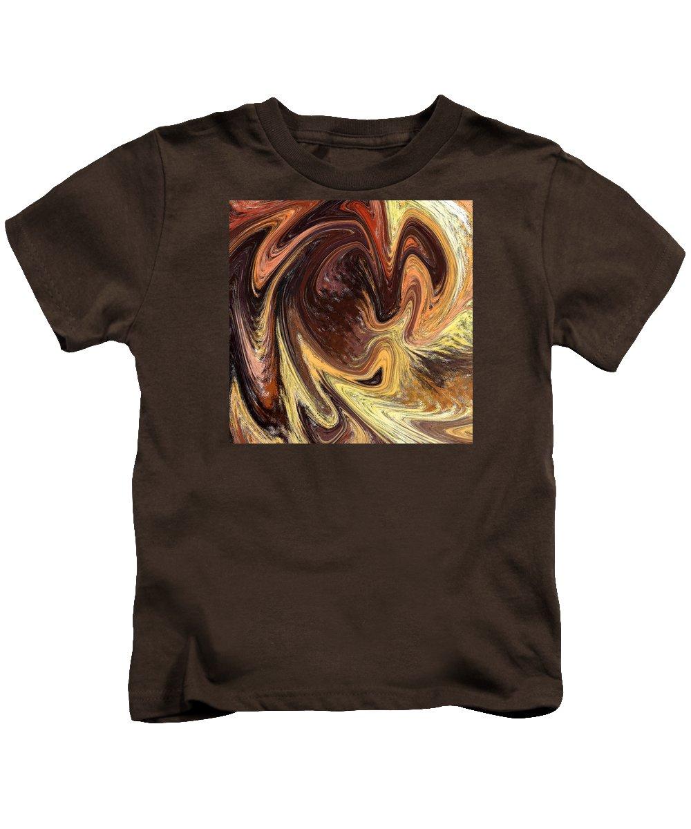 Abstract Kids T-Shirt featuring the painting Terrestrial Vortex Abstract by Irina Sztukowski