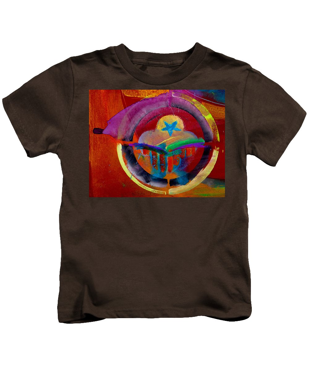 Button Kids T-Shirt featuring the painting Texicana by Charles Stuart