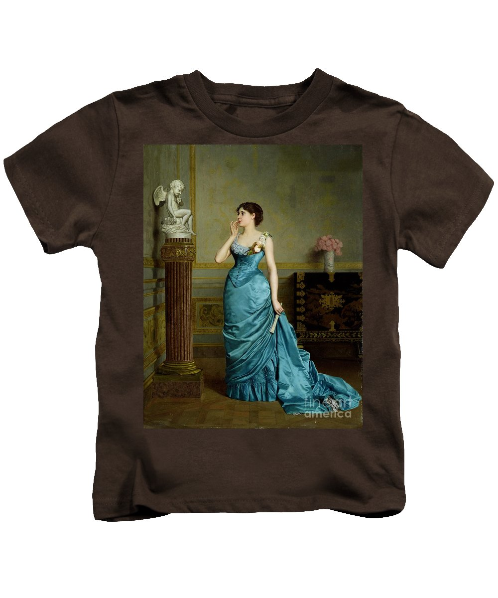 Kids T-Shirt featuring the painting The Accomplice by Auguste Maurice Cabuzel