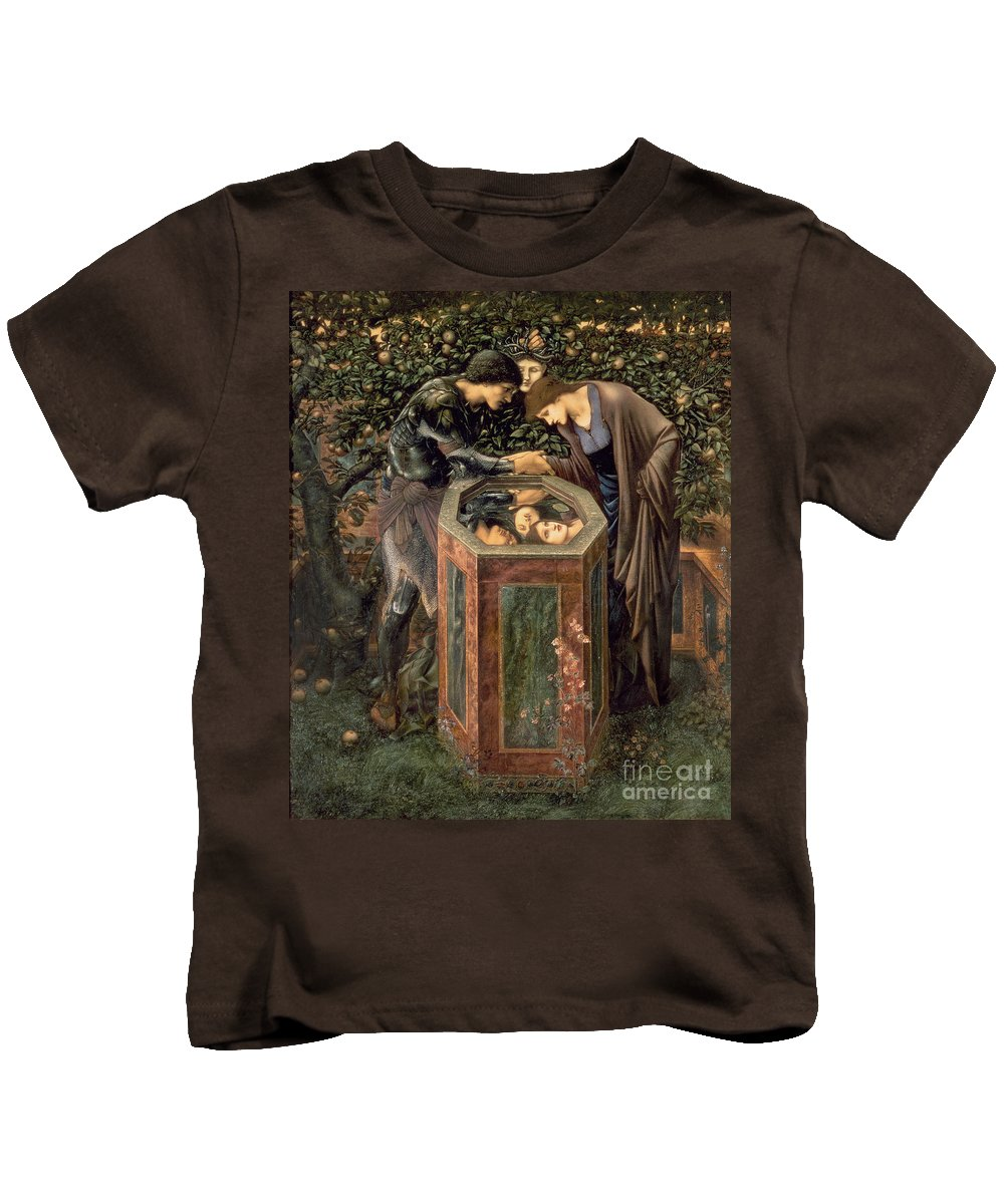 The Kids T-Shirt featuring the painting The Baleful Head by Sir Edward Burne-Jones