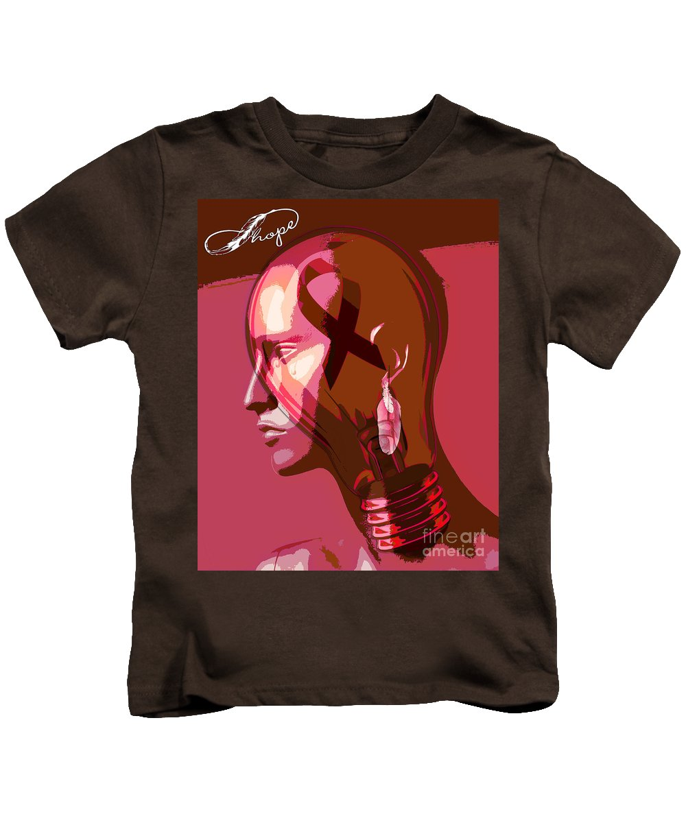 Brave Kids T-Shirt featuring the digital art The Brave by Daniela Constantinescu