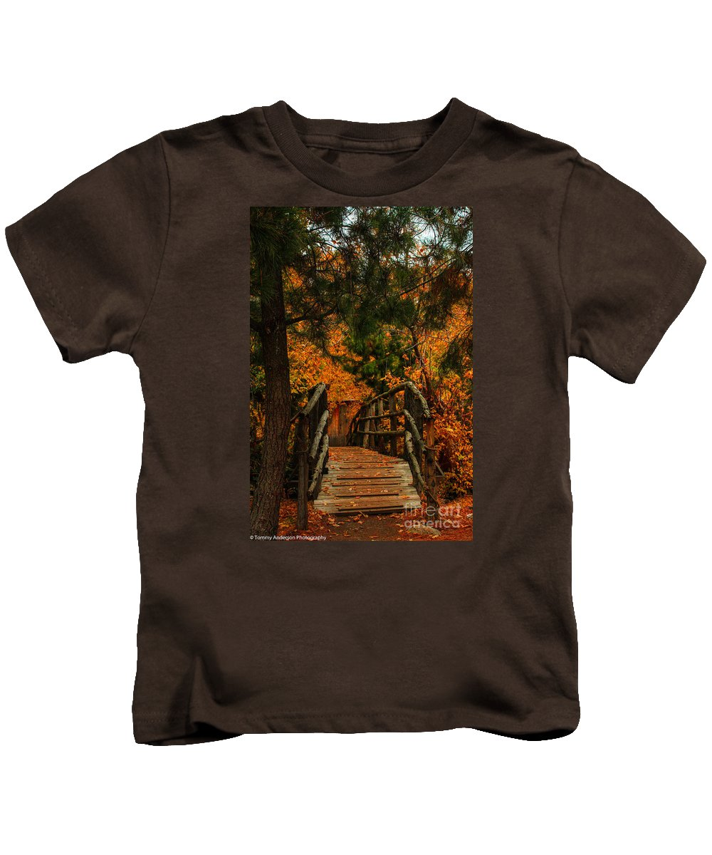 Bridge Kids T-Shirt featuring the photograph The Bridge by Tommy Anderson