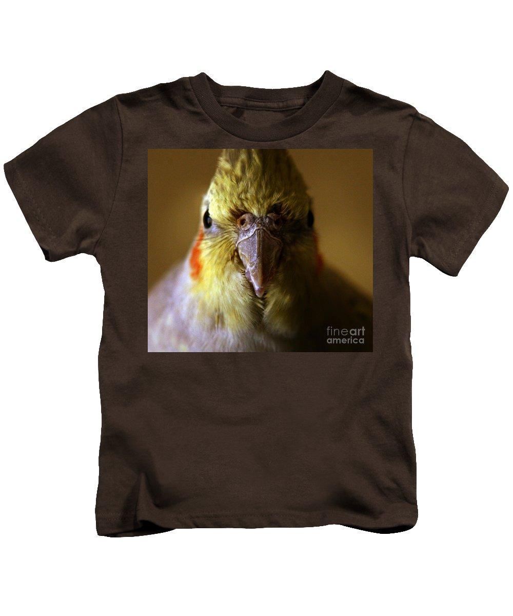 Cockatiel Kids T-Shirt featuring the photograph The Cockatiel by Angel Ciesniarska