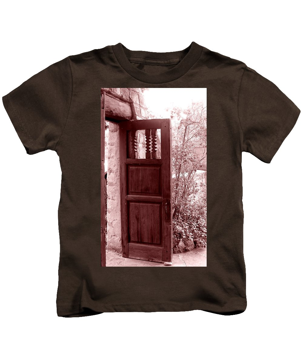 Door Kids T-Shirt featuring the photograph The Door by Wayne Potrafka