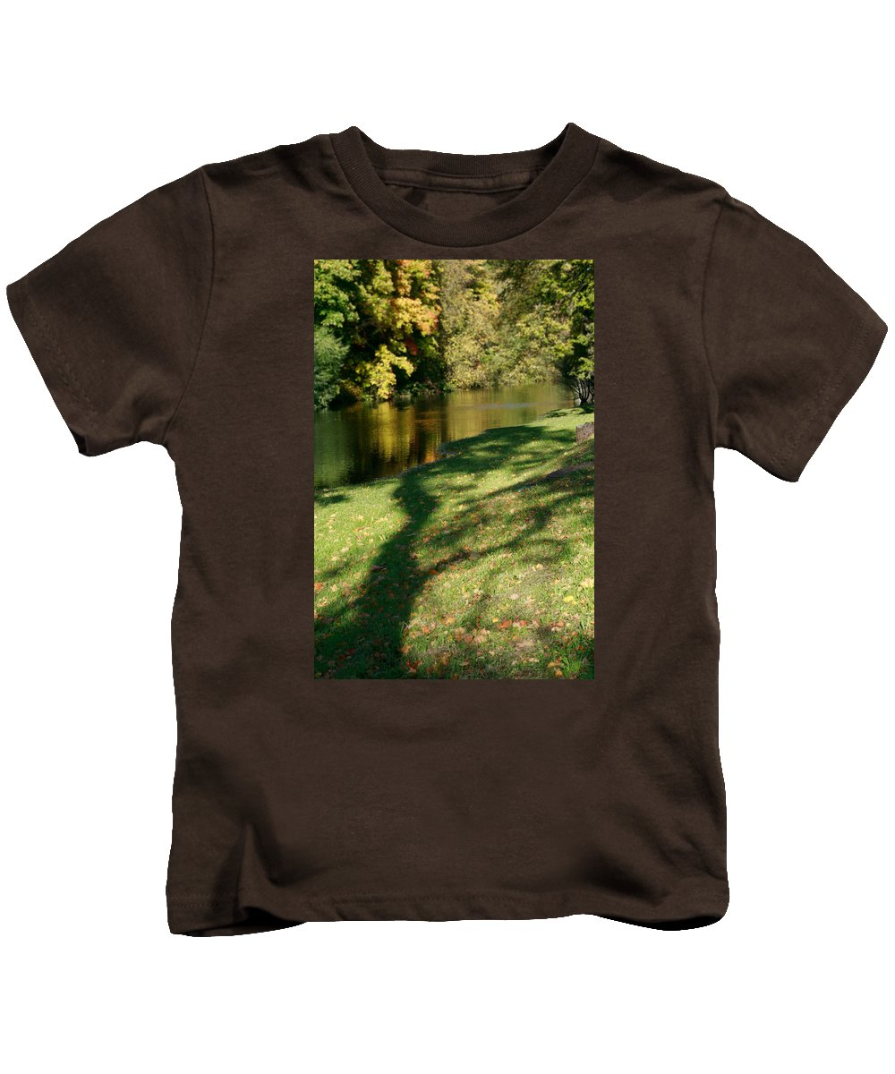Fall Kids T-Shirt featuring the photograph The Game Of Shadows by Masha Batkova