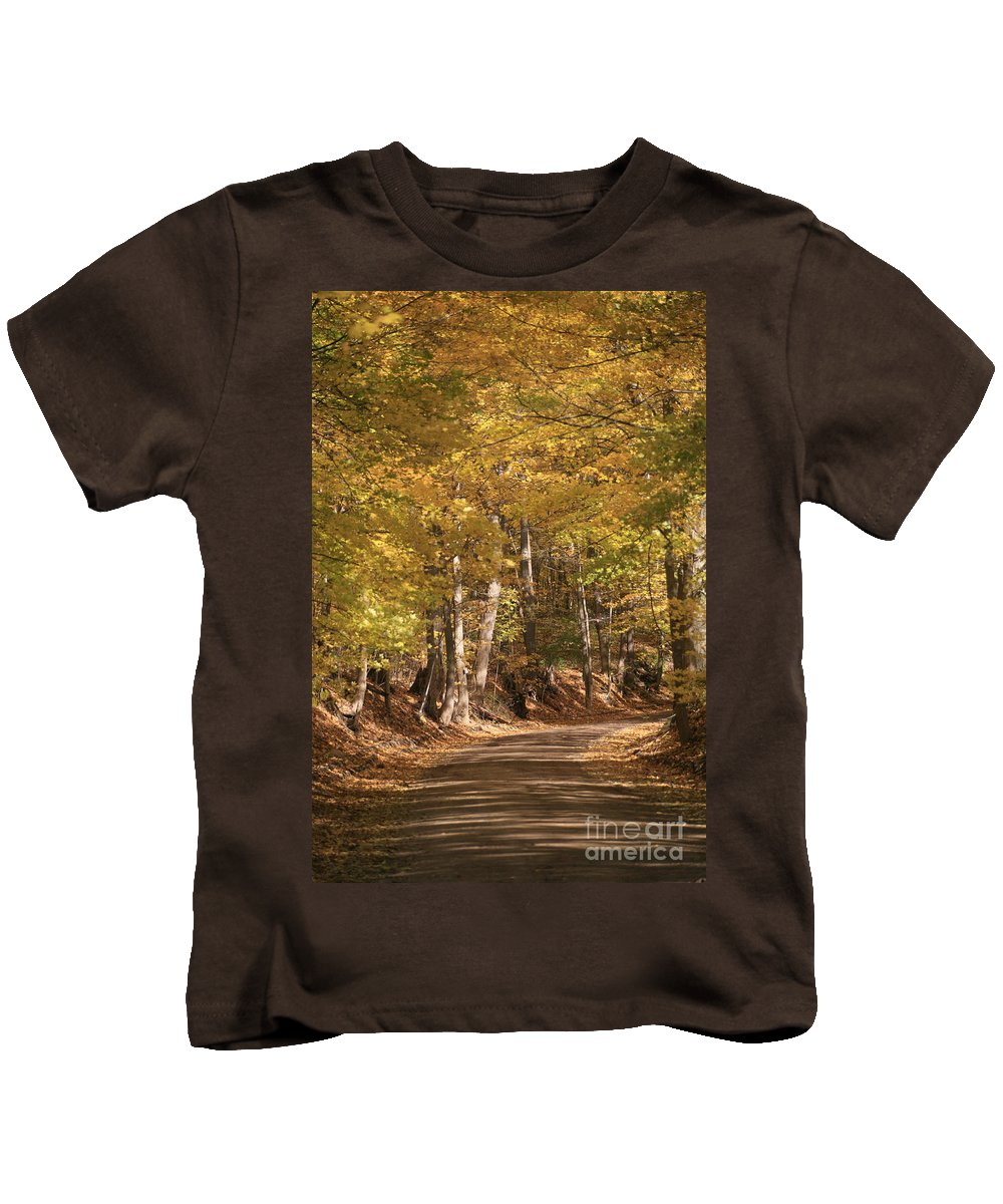 Golden Kids T-Shirt featuring the photograph The Golden Road by Robert Pearson