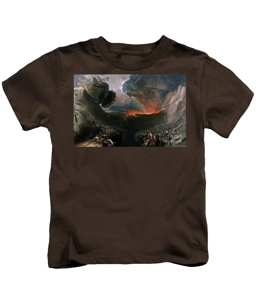 The Kids T-Shirt featuring the painting The Great Day Of His Wrath by Charles Mottram