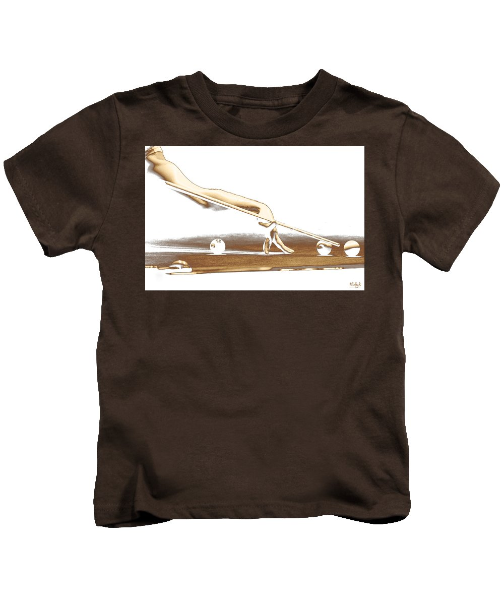 Abstract Kids T-Shirt featuring the photograph The Hustler by Holly Kempe