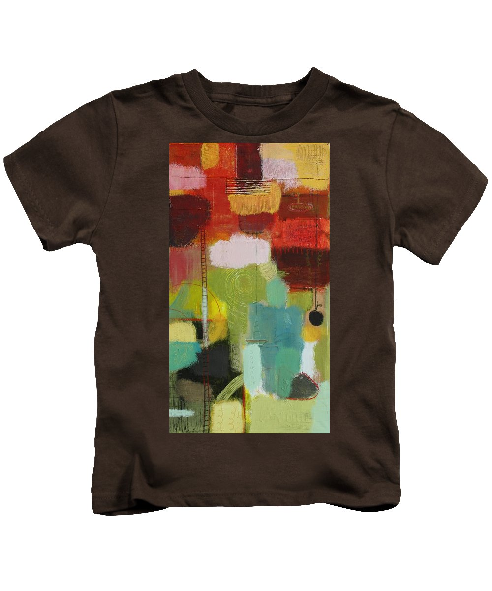 Abstract Kids T-Shirt featuring the painting The Ladder Of Life by Habib Ayat