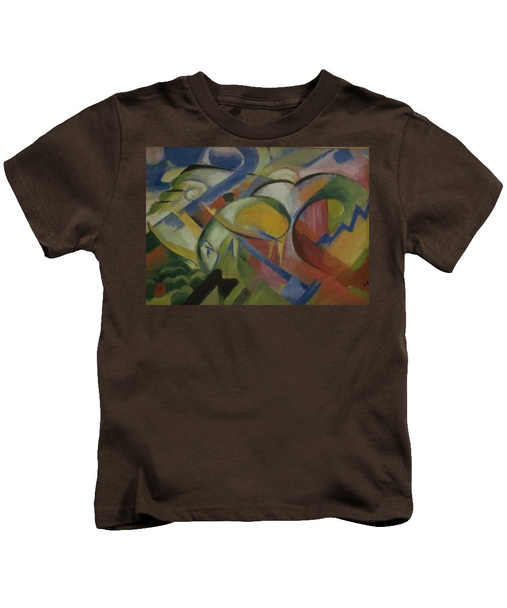 The Kids T-Shirt featuring the painting The Lamb 1914 by Marc Franz