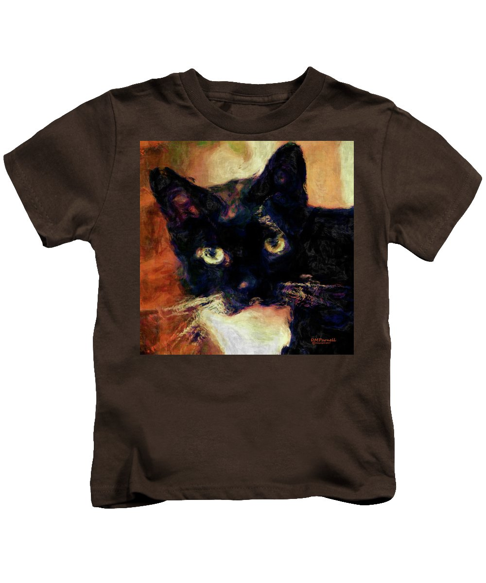Cat Kids T-Shirt featuring the digital art The Most Beautiful Soul In Heaven by Diane Parnell