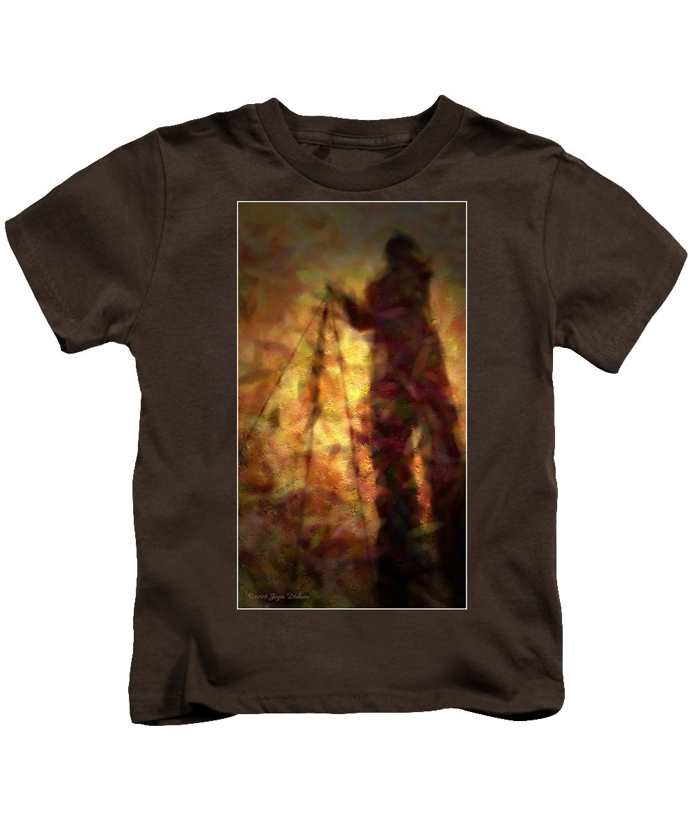 Impressionism Kids T-Shirt featuring the photograph The Photographer by Joyce Dickens