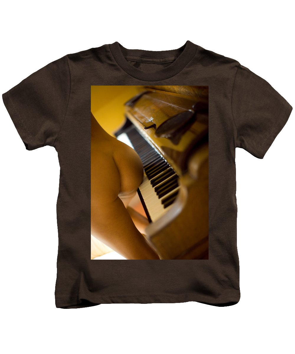Sensual Kids T-Shirt featuring the photograph The Piano by Olivier De Rycke