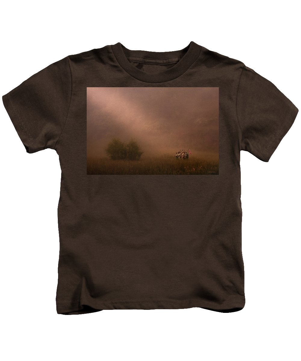 Ron Jones Kids T-Shirt featuring the photograph The Picket Guard by Ron Jones