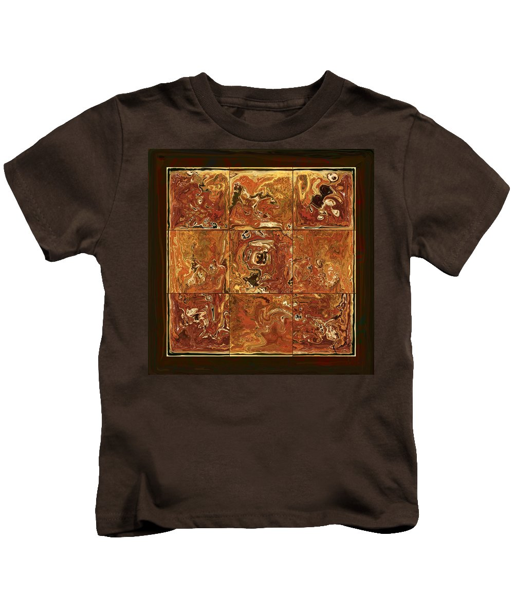 Abstract Kids T-Shirt featuring the digital art The Pieces by Rabi Khan