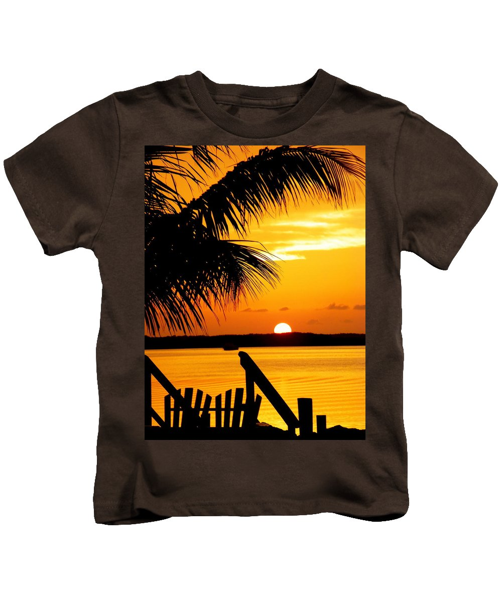 Sunsets Kids T-Shirt featuring the photograph The Promise by Karen Wiles