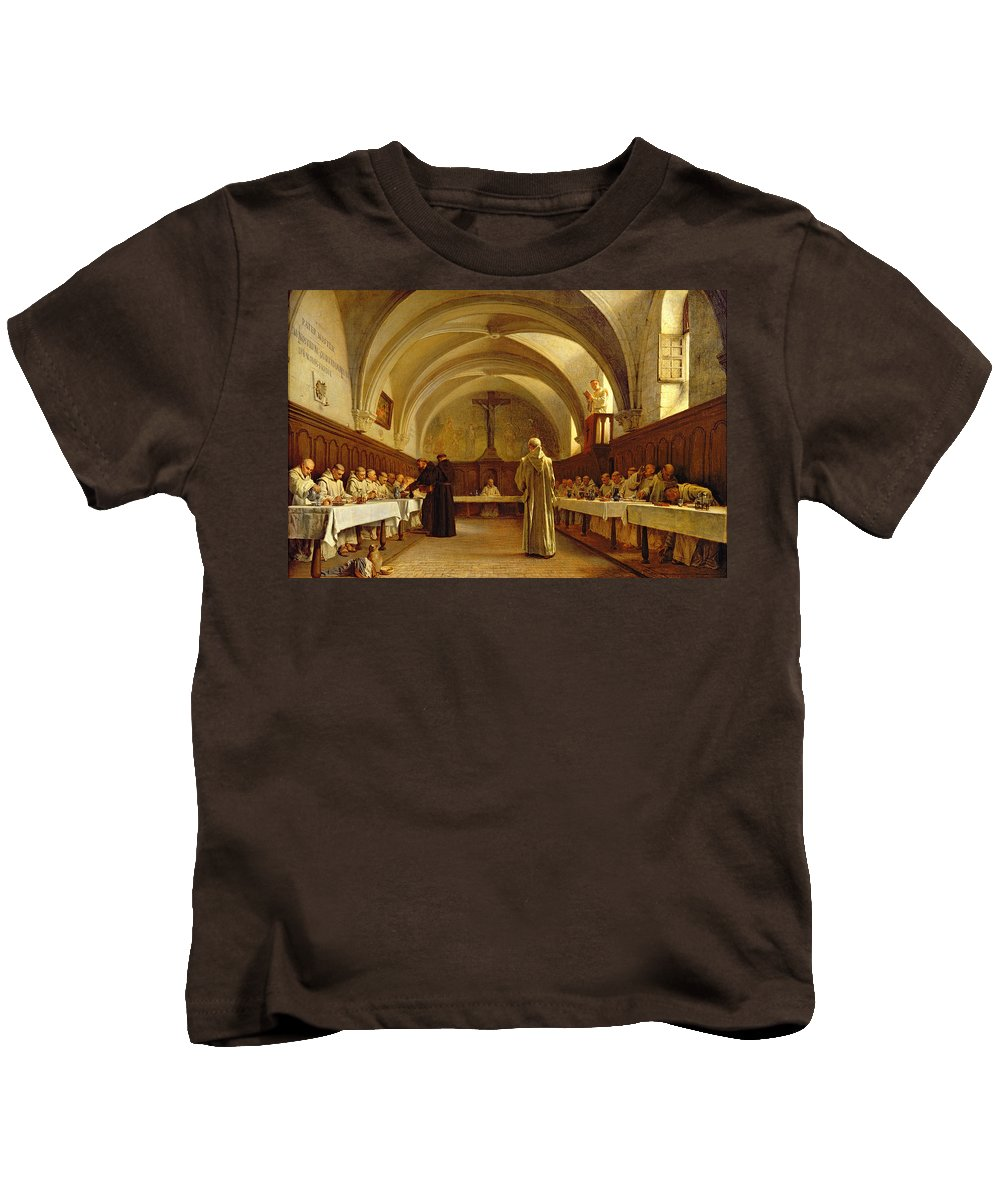 The Kids T-Shirt featuring the painting The Refectory by Theophile Gide