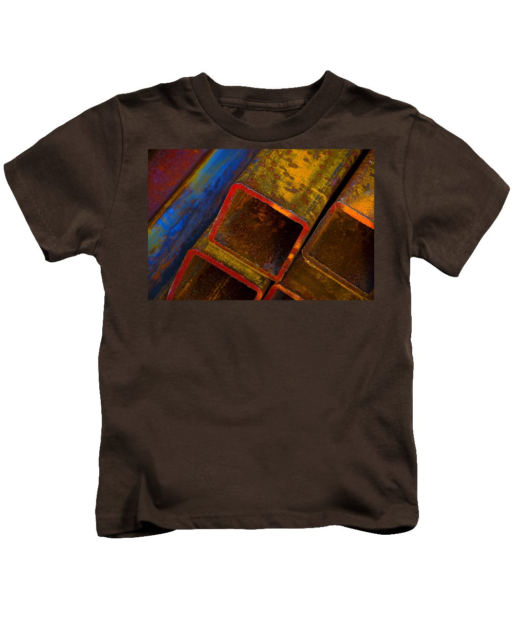 Abstract Kids T-Shirt featuring the photograph The River by Skip Hunt