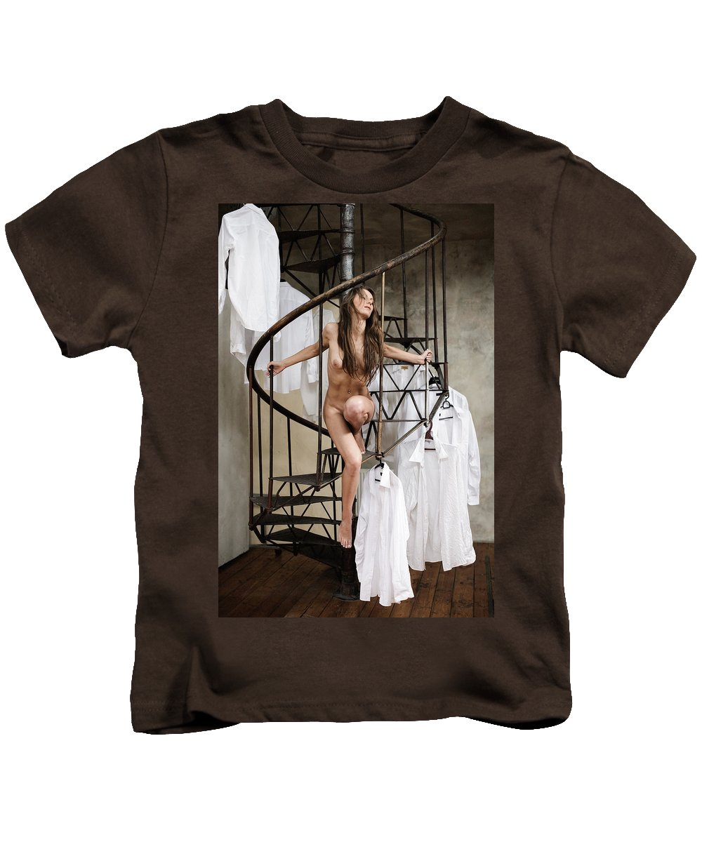 Sensual Kids T-Shirt featuring the photograph The Stairs by Olivier De Rycke