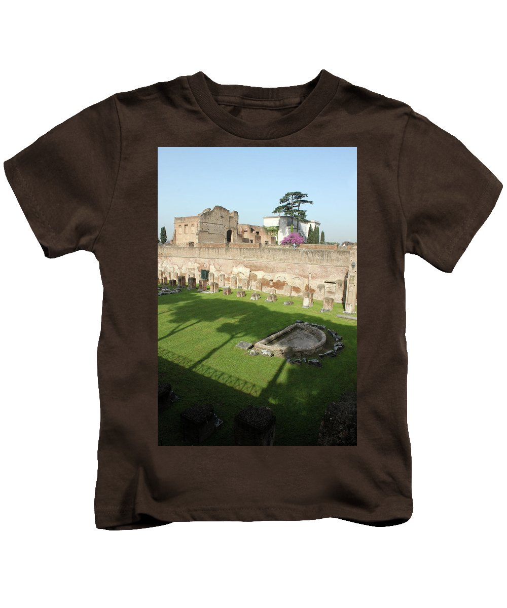Rome Kids T-Shirt featuring the photograph The Three Trees by Munir Alawi