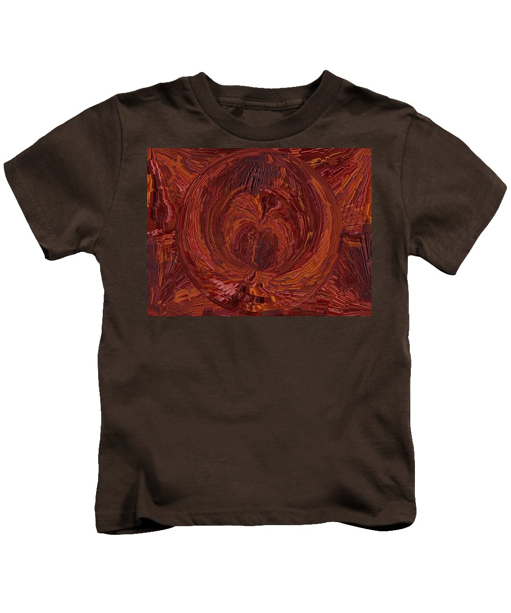 Tunnel Kids T-Shirt featuring the digital art The Tunnel Red by Tim Allen