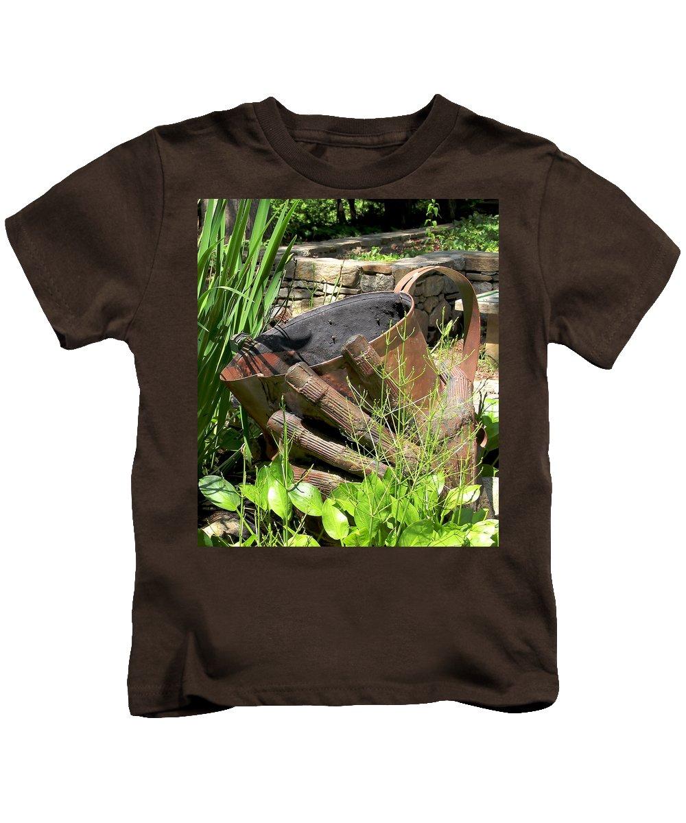 Botanical Garden Memorial Kids T-Shirt featuring the photograph These Hands Serve by Allen Nice-Webb