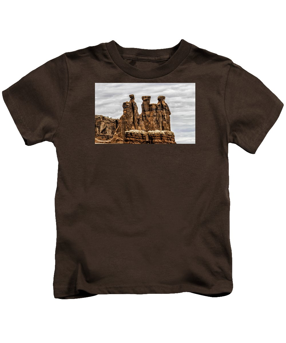 Three Gossips Kids T-Shirt featuring the photograph Three Gossips by John Hesley