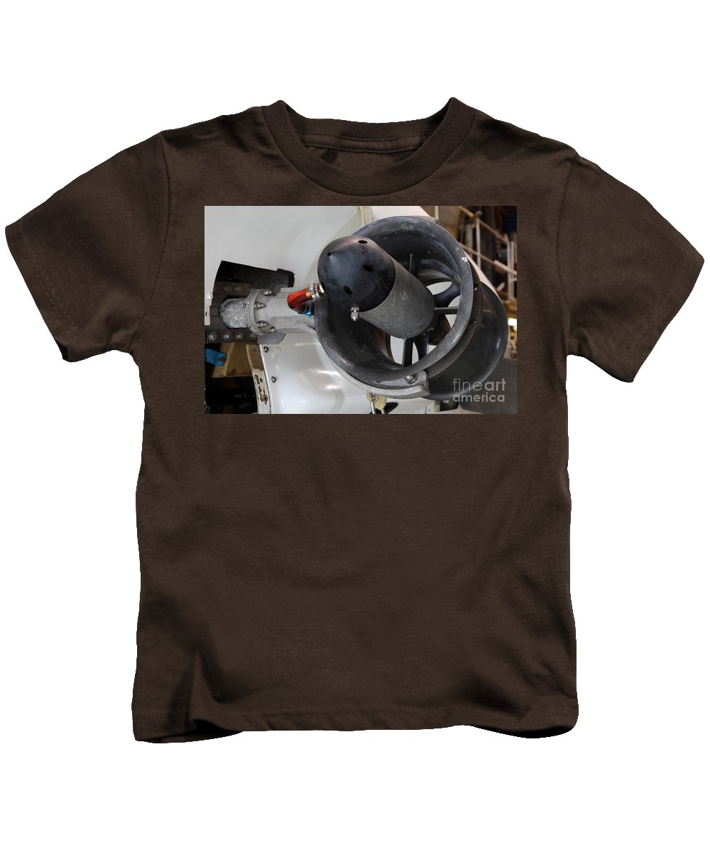 Sub Kids T-Shirt featuring the photograph Thruster On A Deep Sea Submarine by Ted Kinsman