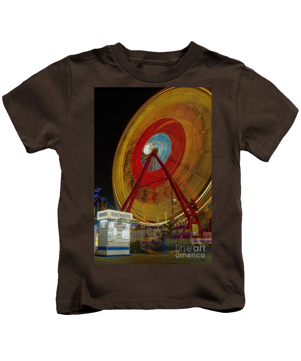 Amusement Ride Kids T-Shirt featuring the photograph Tickets by David Lee Thompson